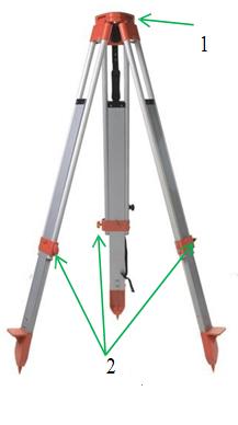cấu tạo của chân nhôm máy thủy bình